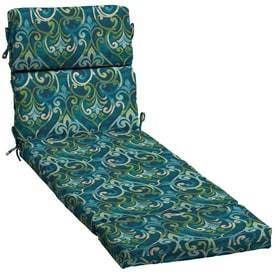 Garden Treasures 1 Piece Salito Marine Patio Chaise lounge Chair Cushion