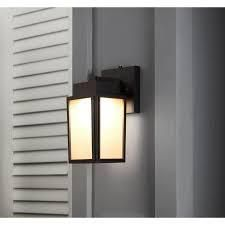 Portfolio Wren Hill 11 in H Bronze led Outdoor Wall light
