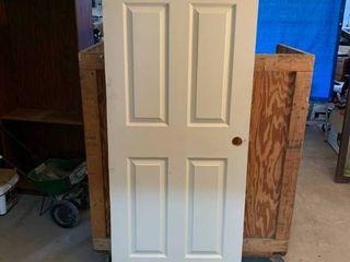 Interior wood door