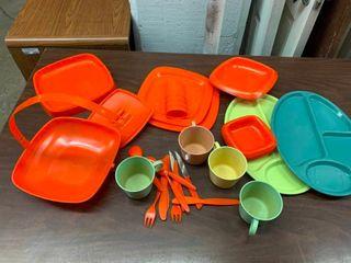 Plastic picnic ware