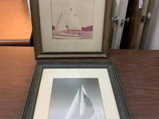 Sailboat photos in frames