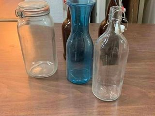 Variety of glass bottles