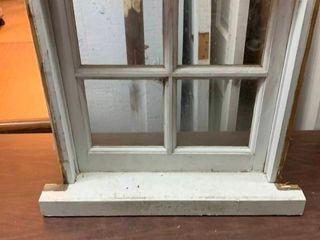 Vintage 4 pane window with frame