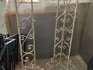 Rod iron porch columns