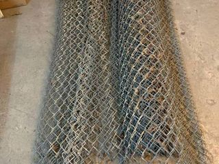 Metal chain link fencing