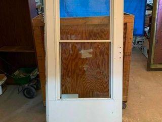 Two window storm door
