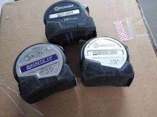 kobalt tape measure 3 ct