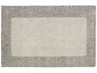 Mohawk Home Spotted Border Woven Rug  8  x 10  Gray