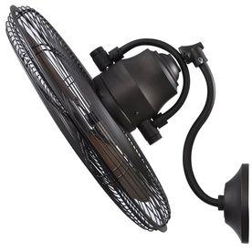 allen   roth 18 Inch 3 Speed Oscillation Indoor Outdoor Wall Bronze Fan