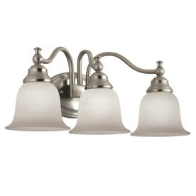 Portfolio 3 light Brandy Chase Brushed Nickel Bathroom Vanity light