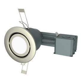 Utilitech 1 Pack 45 Watt Equivalent Brushed Nickle Dimmable lED Recessed Retrofit Downlight  Fits Housing Diameter 3 in