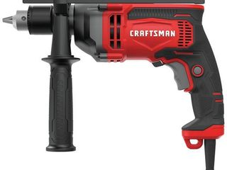 Craftsman 1 2 in  Keyed Corded Hammer Drill Kit 7 amps 3100 rpm 52700 bpm Red   Case Of  1