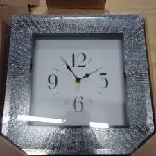 10 X 10 Glitter Rays Square Clock