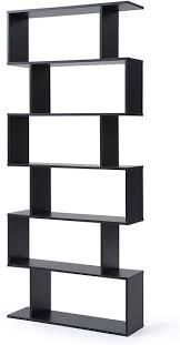 christies home living black bookcase