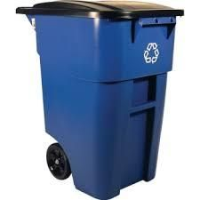 Rubbermaid trash can blue