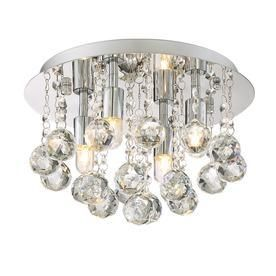 Style Selections 12 in W Polished Chrome Ceiling Flush Mount