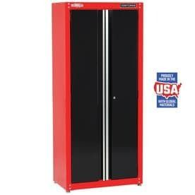 CRAFTSMAN Heavy Duty 32 in W x 74 in H x 18 in D Steel Freestanding Garage Cabinet side panel dented