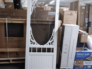 white screen door plastic missing peice