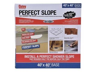 Oatey Perfect Slop 40 in  W x 40 in  l Brown One Piece Center Square Base