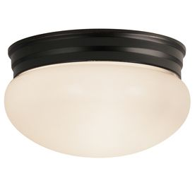 Project Source 9 25 in W Dark Oil Rubbed Bronze Ceiling Flush Mount