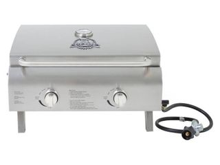 Two Burner Stainless Steel Portable lP Gas Grill Model 75275   Pit Boss
