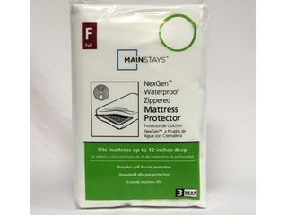 Mainstays Zippered NexGen Waterproof Allergy Relief Mattress Protector  Full