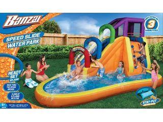 Banzai Speed Slide Water Park Outdoor Toy