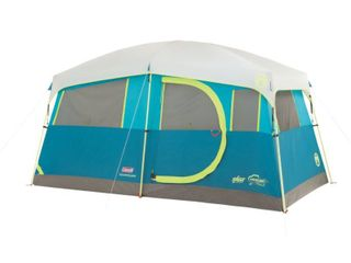 Coleman Tenaya lake Fast Pitch 6 Person Cabin Tent with Built in Cabinets