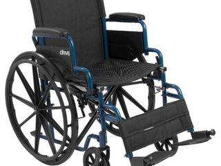 Transport Wheelchair K1 Product  Blue Streak 16  D l Flip Back Arms  Swing Foot