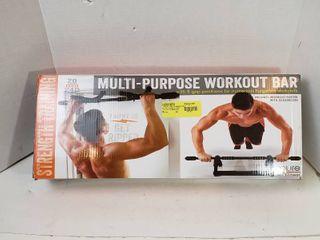 Pure Fitness Adjustable Multi Purpose Doorway Pull Up Bar