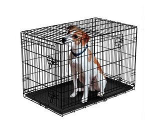 Vibrant life Double Door Folding Dog Crate with Divider  22