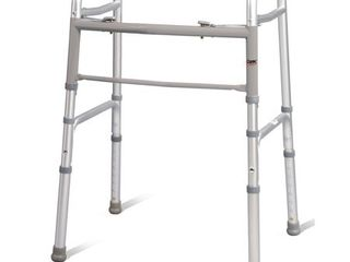 Carex Folding Walker for Adults with Height Adjustable legs