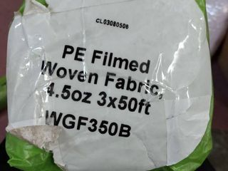 PE Film Woven Fabric for weed control  errigation control  4 5oz  3x50