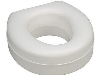 Raised Toilet Seat Riser for Elderly  Portable Elevated Handicap Toilet Seat Cushion for Seniors  5 Inch Height  White