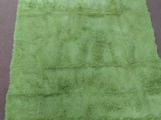 Super soft green shag area rug  90 l x 63  W