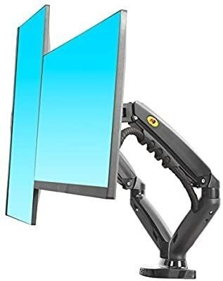 NB North Bayou Dual Monitor Desk Mount Stand Full Motion Swivel Computer Monitor Arm for Two Screens