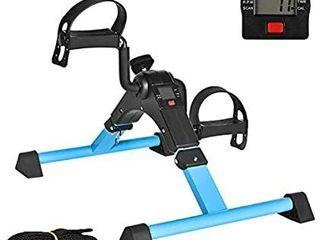 IPKIG Under Desk Bike Pedal Exerciser for Arm leg Fitness Folding Mini Exercise Bike