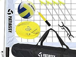 Patiassy Professional Volleyball Set   Portable Outdoor Volleyball Net with Poles