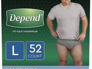 Depend Men s Fit Flex Incontinence Underwear   Gray   large   52ct