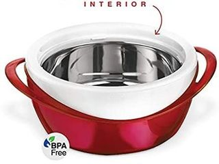 Pinnacle Thermoware Casserole Dish   large Soup and Salad Bowl   Insulated Serving Bowl With lid 3 6 qt