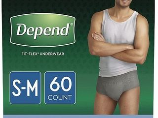 Depend Fit Flex Incontinence Underwear for Men  Maximum Absorbency  Small Medium  60ct