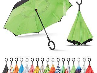 Inverted Umbrella  Umbrella Windproof  Reverse Umbrella  Umbrellas for Women with UV Protection  Upside Down Umbrella with C Shaped Handle