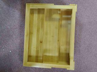 Mdesign Adjustable  Expandable Kitchen Bamboo Storage 12 75 X 16 X 4 5