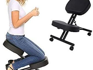 Ergonomic Kneeling Chair Adjustable Stool for Home and Office Posture Corrective Chair  Angled Kneeling Chair with an Angled Seat Thick Comfortable Cushions