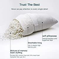 Adjustable Shredded Memory Foam Pillows Hypoallergenic for Sleeping King