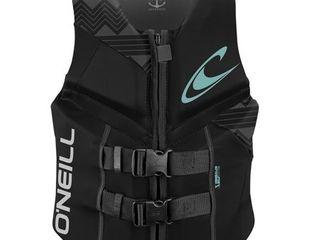 O Neill Wetsuits Wake Waterski Womens Reactor USCG life Vest  Pacific lunar Black  Size 6