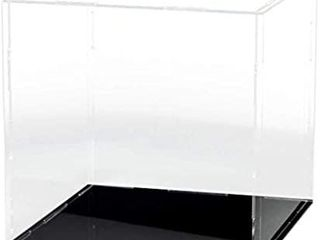 lANSCOERY Clear Acrylic Display Case Assemble Countertop Box Cube Organizer Stand Dustproof Protection Showcase for Action Figures Toys Collectibles