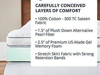 ViscoSoft 4 Inch Pillow Top Gel Memory Foam Mattress Topper Full