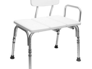 Carex Tub Transfer Bench with Height Adjustable legs  Convertible for left  or Right Hand Entry