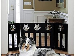 Pet Store Wooden Paw Decor Pet Gate